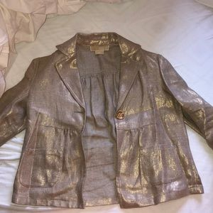 Authentic Michael Kors Spring Gold Jacket